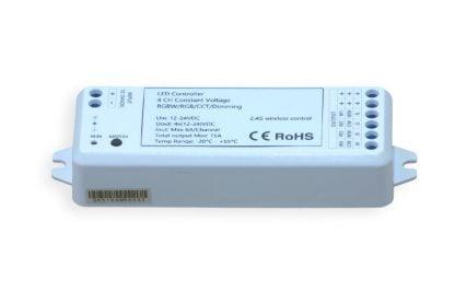 RGBW / valonvärin säätö -vastaanotin