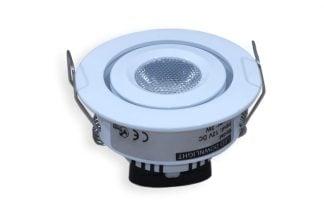 Suunnattava LED-kalustevalo 3W valkoinen